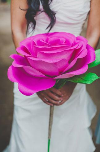paper wedding flowers Wedding Flower Alternatives