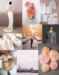 urban blush wedding inspiration