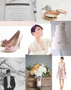 50s Vintage Wedding Style Inspiration