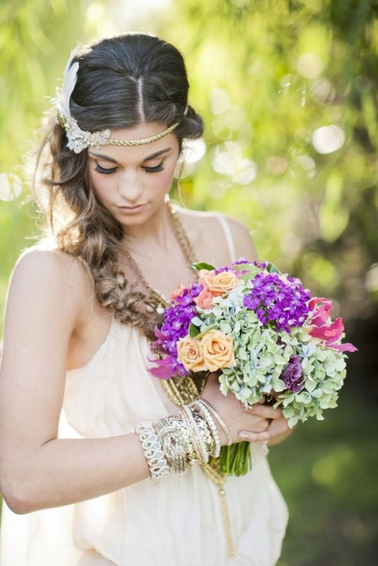 Orange and purple green bouquet  image by Photography by Nadean