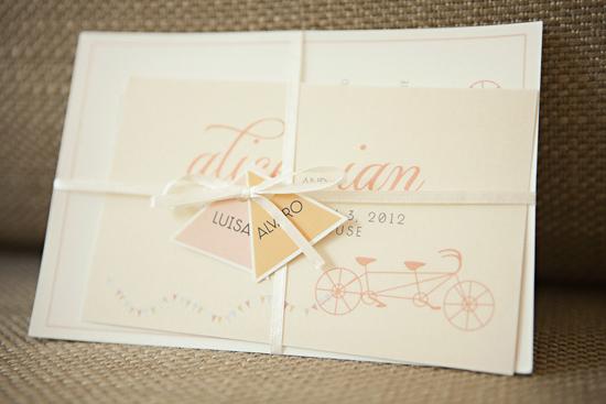 bicycle wedding invitation Alice and Ians Elegant Melbourne City Wedding