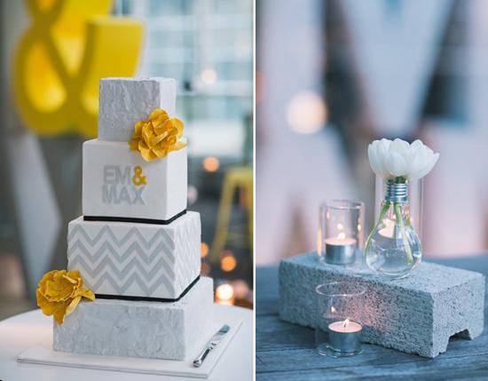 modern melbourne wedding cake Em and Maxs Modern City Wedding