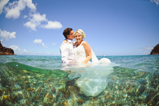 whistundays destination wedding location009 Water & The Wedding Dress On The Whitsunday Islands