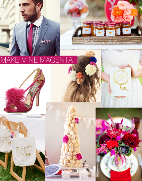 Magenta Hot Pink Wedding Inspiration Shoe Crush Sunday Magenta