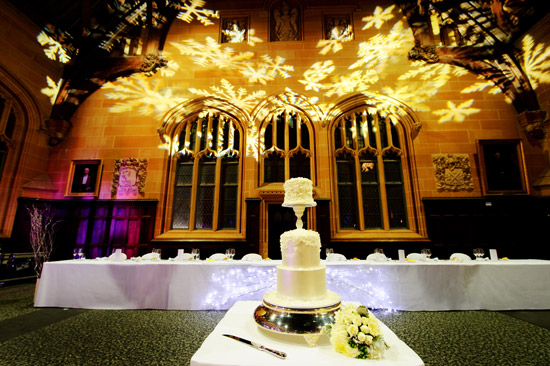 Wedding lighting projector gobos The Importance Of Good Reception Lighting