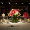 Well lit wedding table setting