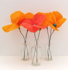 crepe paper poppies