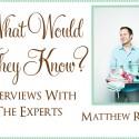 matthew robbins interview