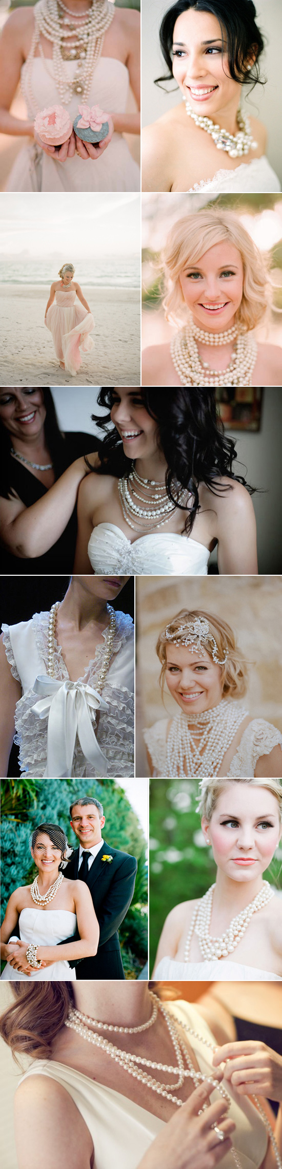 modern ways to wear pearls at your wedding Wedding Day Pearls