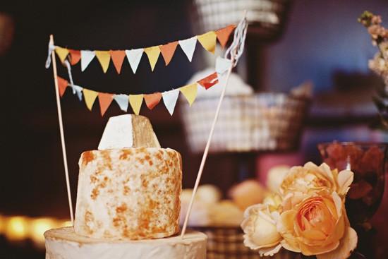 paper flag cake topper