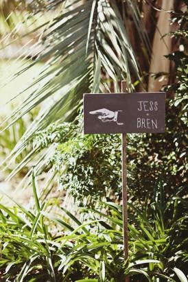 park wedding sign