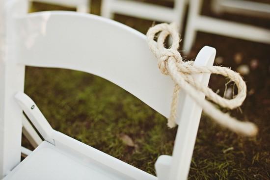 rope wedding ceremony decor