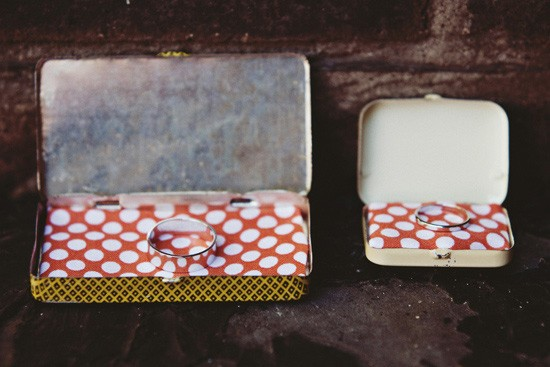 vintage pill boxes as ring boxes
