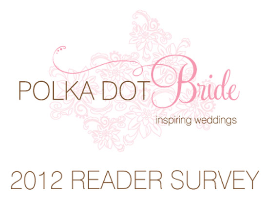 2012 reader survey Take The 2012 Polka Dot Bride Reader Survey & Win A Palm Beach Collection Candle Pack!