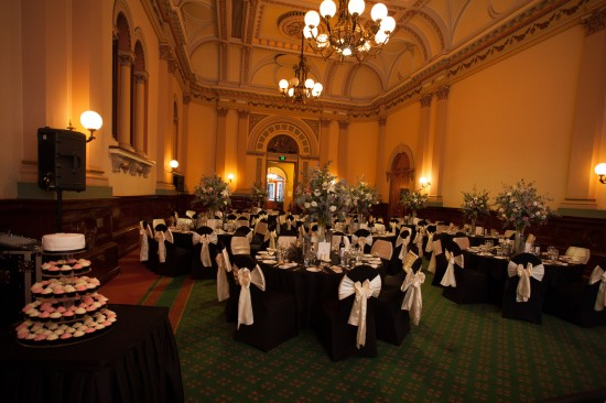 Banquetting Room from Bridal Table 550x366 Pink & White Classic Adelaide Winter Wedding