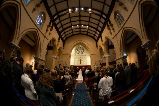 Church wide lens 550x367 Pink & White Classic Adelaide Winter Wedding