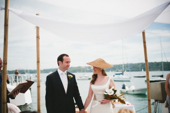 Tobhiyah and Daniel married under a Chuppah at the Vaucluse Yacht Club, Watson's Bay