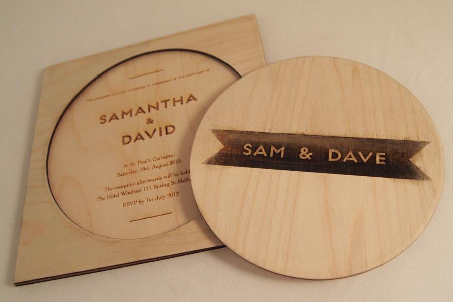 source - Wood Wedding Invitations