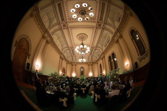 Town Hall wide lens 550x366 Pink & White Classic Adelaide Winter Wedding