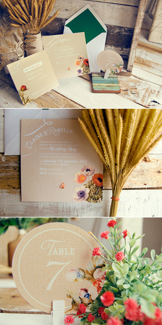 botanical wedding invitation Creative Wedding Stationery From Mr&Mrs