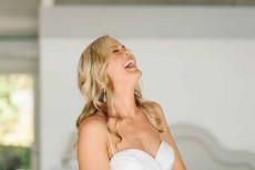 bride laughing bushturkey studio