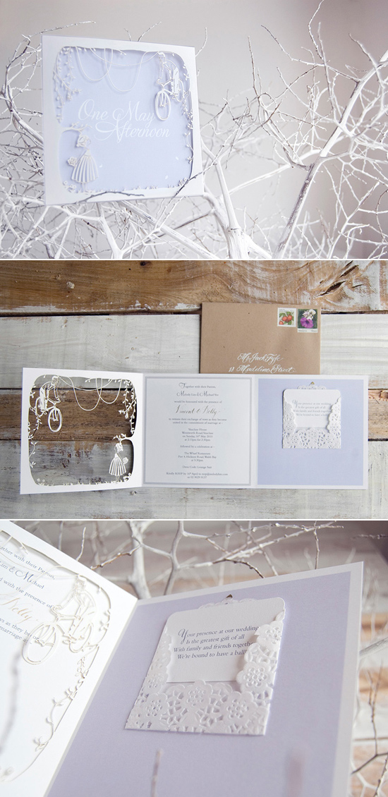 laser cut winter wedding invitation Creative Wedding Stationery From Mr&Mrs