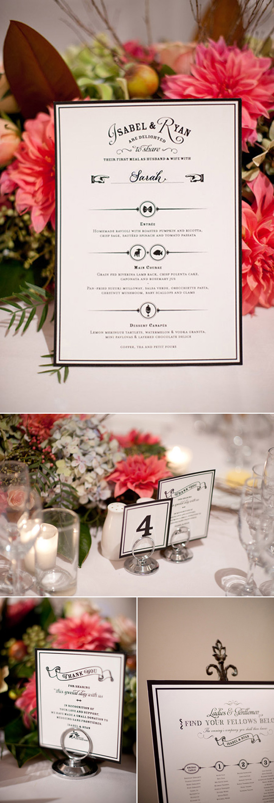 modern black and white invitation Creative Wedding Stationery From Mr&Mrs