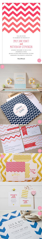 modern chevron wedding invitations1 Modern Wedding Invitations