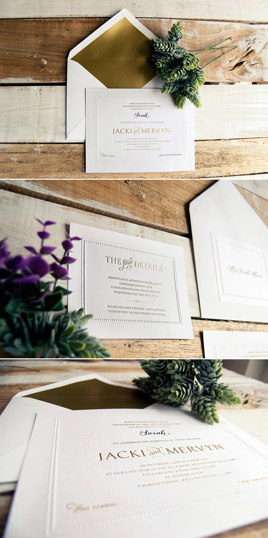 modern classic wedding invitations Creative Wedding Stationery From Mr&Mrs