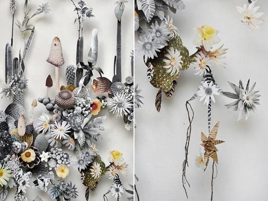 paper flowers Anne Ten Donkelaar003 Flower Art by Anne Ten Donkelaar