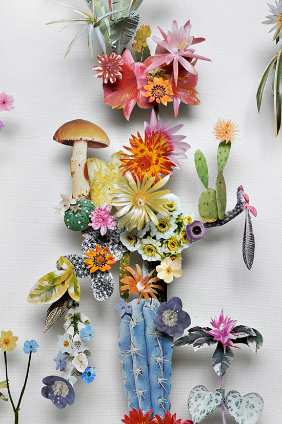 paper flowers Anne Ten Donkelaar005 Flower Art by Anne Ten Donkelaar