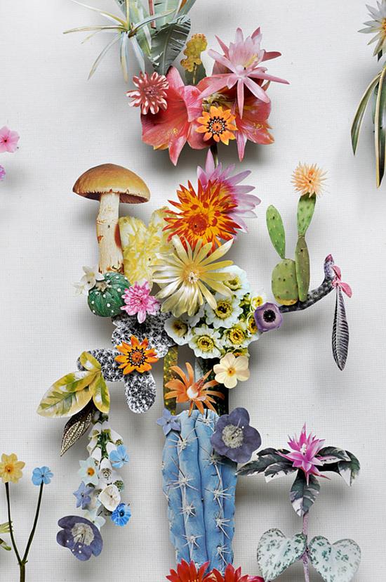 paper flowers Anne Ten Donkelaar005 Flower Art by Anne Ten Donkelaar
