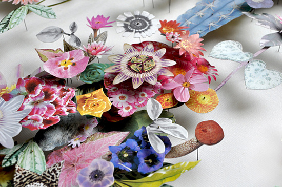 paper flowers Anne Ten Donkelaar006 Flower Art by Anne Ten Donkelaar