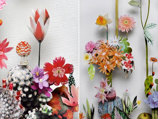 paper flowers Anne Ten Donkelaar008 Flower Art by Anne Ten Donkelaar