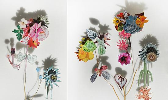 paper flowers Anne Ten Donkelaar010 Flower Art by Anne Ten Donkelaar