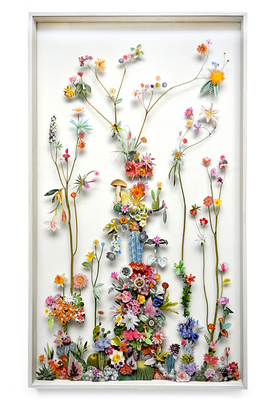 paper flowers Anne Ten Donkelaar016 Flower Art by Anne Ten Donkelaar