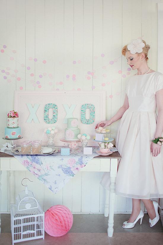 pastel 50s wedding inspiration013 Pastel 50s Wedding Inspiration