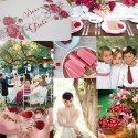 red summer wedding