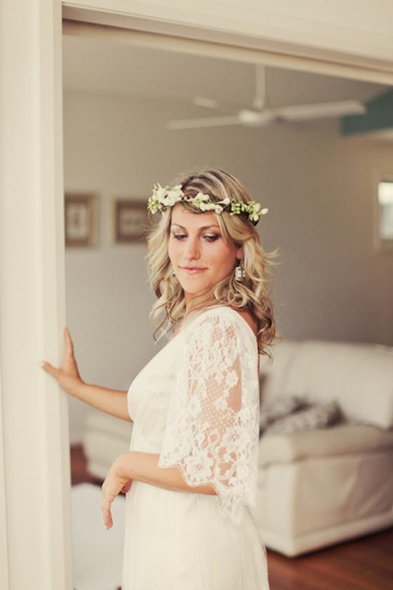 wedding flower crown inspiration001 Wedding Flower Crown Inspiration
