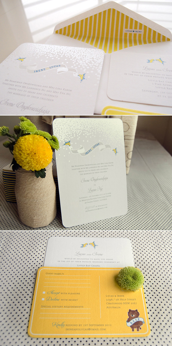 yellow and white wedding invitation Creative Wedding Stationery From Mr&Mrs
