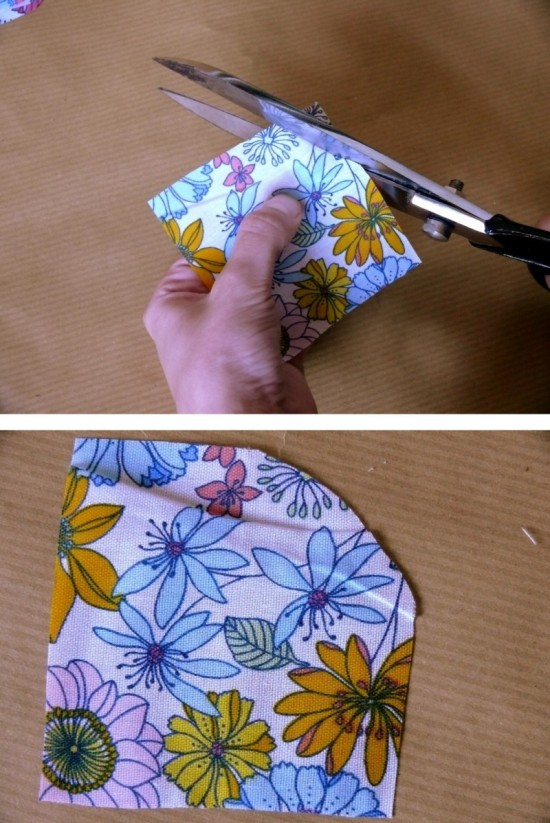 21 550x823 DIY Floral Fabric Wedding Dress Hanger Tutorial