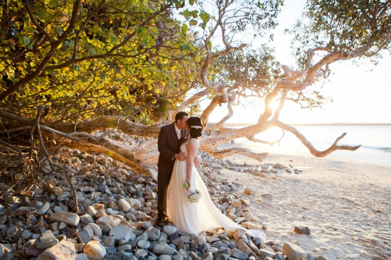 SA 0622 550x366 Sally and Andrews Vintage Style Noosa Wedding On The Beach