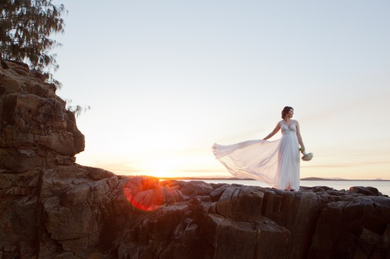 SA 0680 550x366 Sally and Andrews Vintage Style Noosa Wedding On The Beach