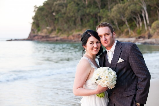 SA 0701 550x366 Sally and Andrews Vintage Style Noosa Wedding On The Beach
