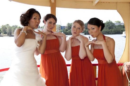 Simpson 113 550x366 Bess and Mitchs Orange & Pink Shark Island Sydney Wedding