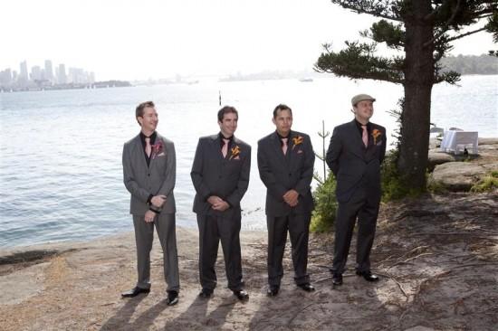 Simpson 155 550x366 Bess and Mitchs Orange & Pink Shark Island Sydney Wedding