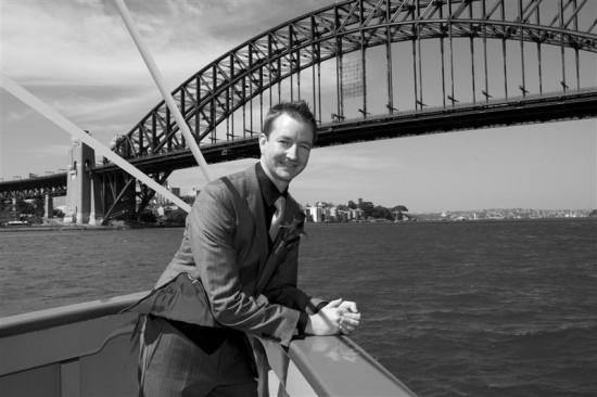 Simpson 558 550x366 Bess and Mitchs Orange & Pink Shark Island Sydney Wedding