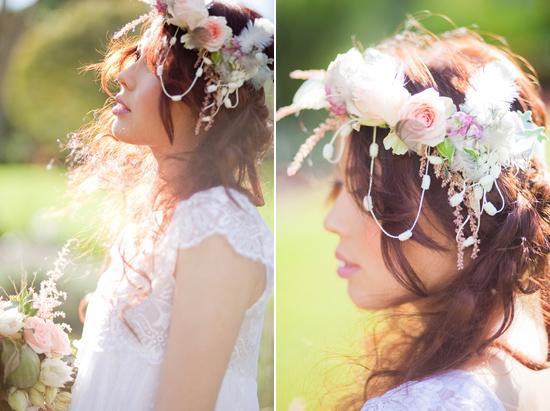 bohemian flower inspiration007 Garden Bohemian Wedding Inspiration