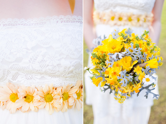 bohemian flower inspiration013 Garden Bohemian Wedding Inspiration