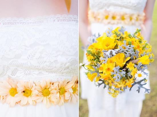 bohemian flower inspiration013 Garden Bohemian Wedding Inspiration